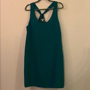 Teal green cocktail dress
